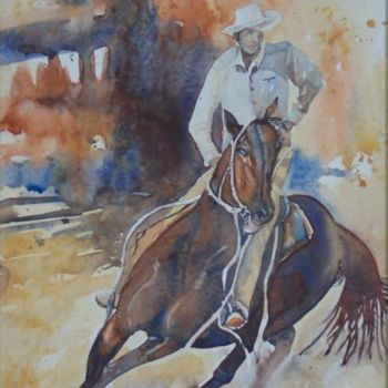 """Painting titled """"Working Horse"""" by Scally Art, Original Art, Oil"""
