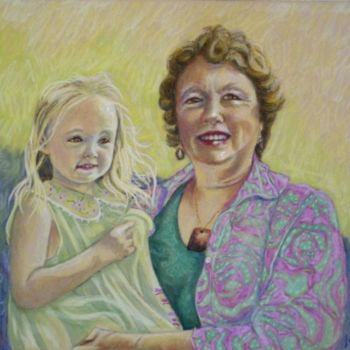 """Painting titled """"Zara and Dianne .jpg"""" by Scally Art, Original Art, Oil"""