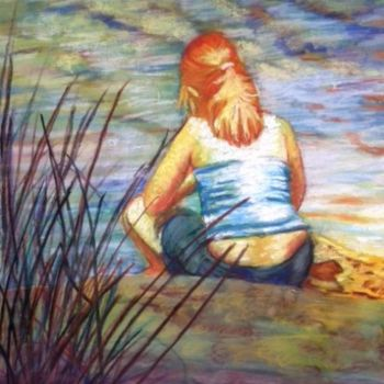 """Painting titled """"Reflective"""" by Scally Art, Original Art, Pastel"""