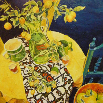 """Painting titled """"Citric Still Life"""" by Scally Art, Original Art, Oil"""