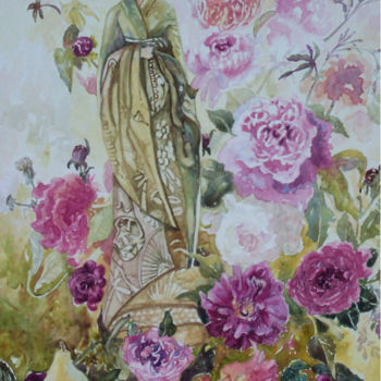 """Painting titled """"China rose - Male"""" by Scally Art, Original Art, Oil"""