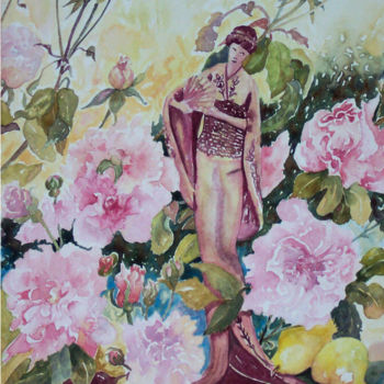 """Painting titled """"China Rose - Female"""" by Scally Art, Original Art, Oil"""