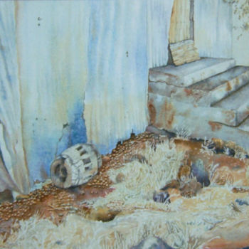 """Painting titled """"Where Rabbits Dwell…"""" by Scally Art, Original Art, Watercolor"""