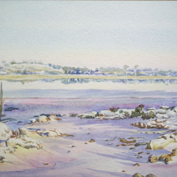 """Painting titled """"Salt on the Rocks -…"""" by Scally Art, Original Art, Watercolor"""