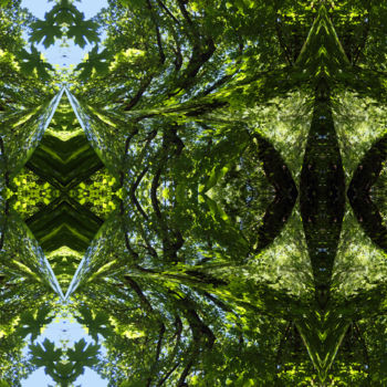"""Digital Arts titled """"Forest Abstract 33"""" by Kenneth Grzesik, Original Art, Digital Painting"""