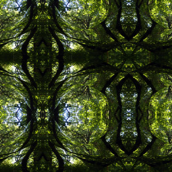 """Digital Arts titled """"Forest Abstract 42"""" by Kenneth Grzesik, Original Art, Digital Painting"""