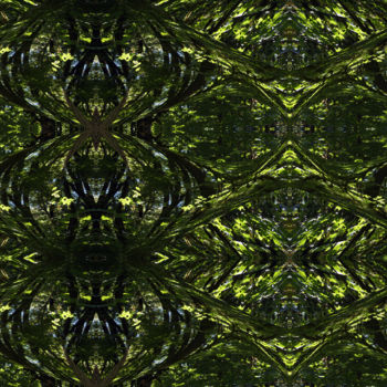 """Digital Arts titled """"Forest Abstract 55"""" by Kenneth Grzesik, Original Art, Digital Painting"""