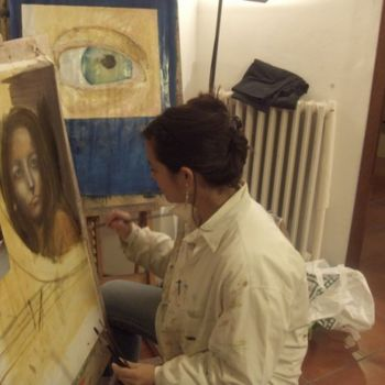 """Painting titled """"Academia del Gilio,…"""" by Marcela, Original Art,"""
