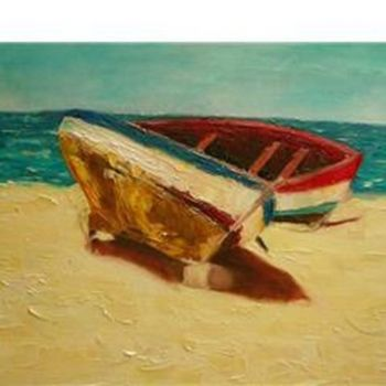 """Painting titled """"Bote II"""" by Marcela, Original Art,"""