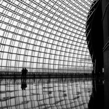 """Photography titled """"Inside the Dome (Fr…"""" by Serge Horta, Original Art, Digital Photography Mounted on Wood Panel"""