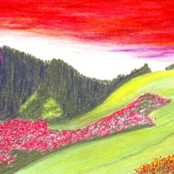 """Digital Arts titled """"The Spring Time Red…"""" by Seshadri, Original Art, Oil"""