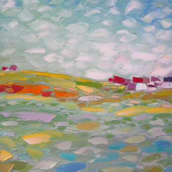 """Painting titled """"Beyond the clouds"""" by Andria Shengelia, Original Art, Oil"""