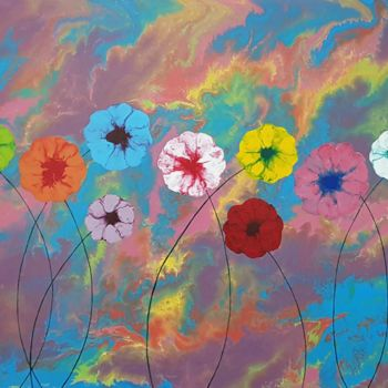 """Painting titled """"floral world3"""" by So Hyon Kim, Original Art, Acrylic"""