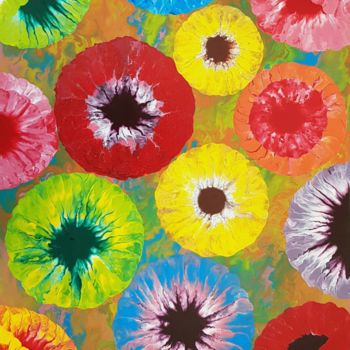 """Painting titled """"floral world2"""" by So Hyon Kim, Original Art, Acrylic"""