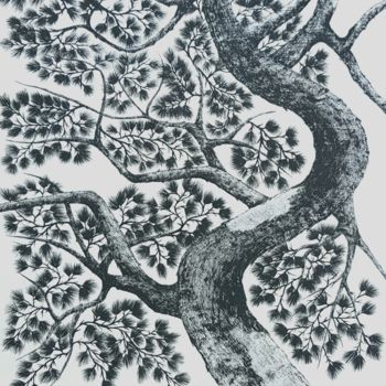 """Painting titled """"pine tree3"""" by So Hyon Kim, Original Art, Ink"""