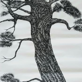 """Painting titled """"pine tree2"""" by So Hyon Kim, Original Art, Ink"""