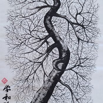 """Painting titled """"winter tree2"""" by So Hyon Kim, Original Art, Ink"""
