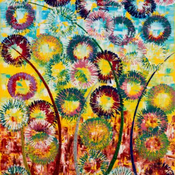 """Painting titled """"abstract flower2"""" by So Hyon Kim, Original Art, Acrylic"""