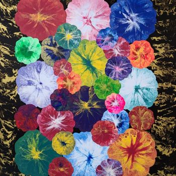 """Painting titled """"flower planet1"""" by So Hyon Kim, Original Art, Acrylic"""