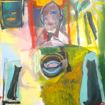 """Painting titled """"fish supper (2)"""" by Simon Taylor, Original Art,"""
