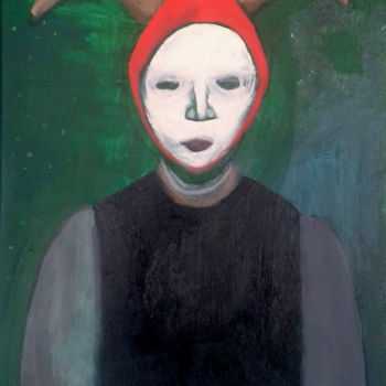 """Painting titled """"red hat"""" by Simon Taylor, Original Art,"""