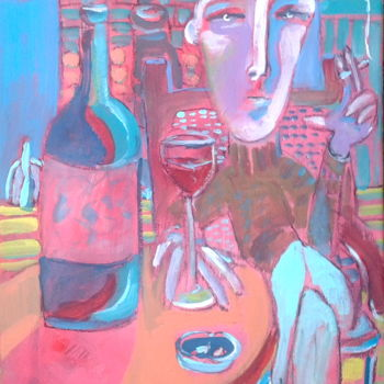 """Painting titled """"wine"""" by Simon Taylor, Original Art,"""