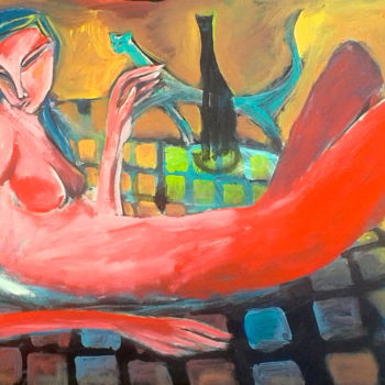 """Painting titled """"bed"""" by Simon Taylor, Original Art,"""
