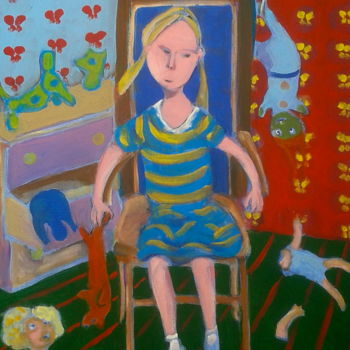 """Painting titled """"toys"""" by Simon Taylor, Original Art,"""
