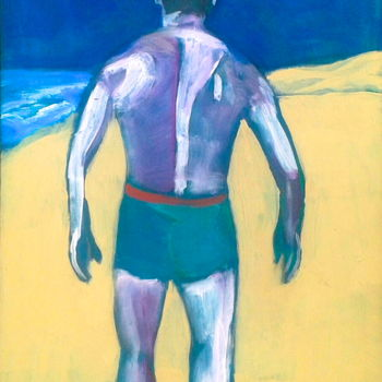 """Painting titled """"beach 3"""" by Simon Taylor, Original Art,"""