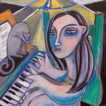 """Painting titled """"piano"""" by Simon Taylor, Original Art, Acrylic"""