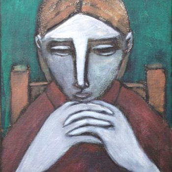 """Painting titled """"in thought"""" by Simon Taylor, Original Art, Acrylic"""