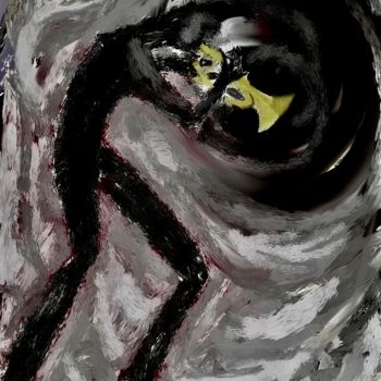 """Digital Arts titled """"playing into the vo…"""" by Simon Taylor, Original Art, Digital Painting"""