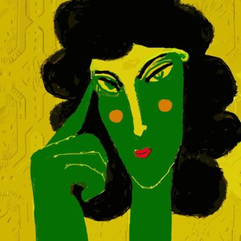 """Digital Arts titled """"green thoughts"""" by Simon Taylor, Original Art, Digital Painting"""