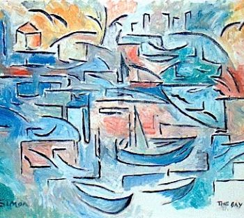 """Painting titled """"the bay"""" by Simon Taylor, Original Art,"""