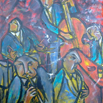 """Painting titled """"jazz dudes 2"""" by Simon Taylor, Original Art,"""