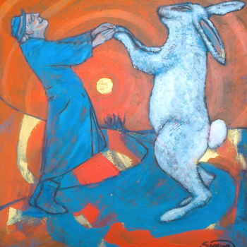 """Painting titled """"the old man & the r…"""" by Simon Taylor, Original Art,"""