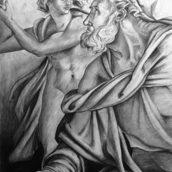 """Drawing titled """"Reproduction d'une…"""" by Simple Art, Original Art, Charcoal"""