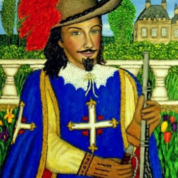 """Painting titled """"King's Musketeer"""" by Stephen Warde Anderson, Original Art, Acrylic Mounted on Other rigid panel"""
