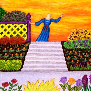 Painting, acrylic, naive art, artwork by Stephen Warde Anderson