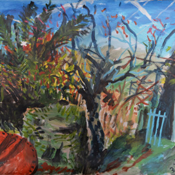 """Painting titled """"Quince and Blue Rai…"""" by Stephen West, Original Art, Acrylic"""