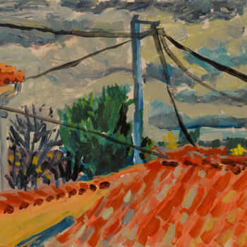 """Painting titled """"Trees over Roofs Vi…"""" by Stephen West, Original Art, Acrylic"""