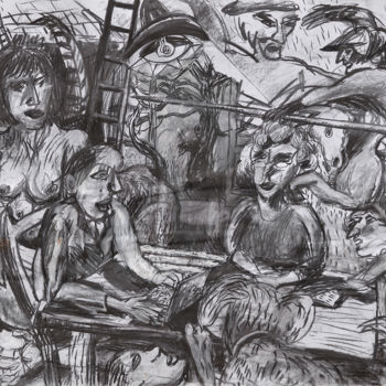Drawing, charcoal, expressionism, artwork by Stephen West