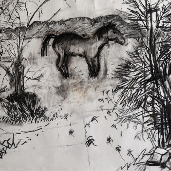 Drawing, charcoal, artwork by Stephen West