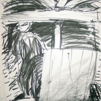 """Drawing titled """"in the loft 2"""" by Stephen West, Original Art,"""