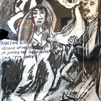 """Drawing titled """"Padstow Mari"""" by Stephen West, Original Art, Other"""