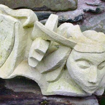 """Sculpture titled """"Athene heads"""" by Stephen West, Original Art, Stone"""