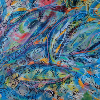 Abstract Drawing, watercolor, abstract, artwork by Lina Stern