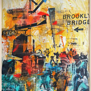 """Painting titled """"NY POP UP"""" by Sven Pfrommer, Original Art, Watercolor"""