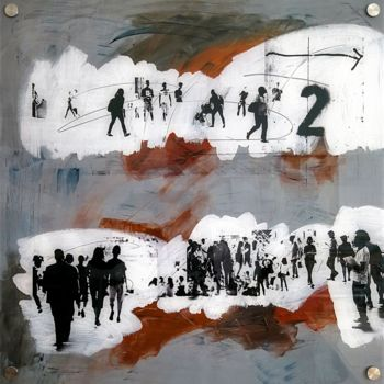 """Printmaking titled """"URBN CROWD IV - by…"""" by Sven Pfrommer, Original Art, Analog Print"""