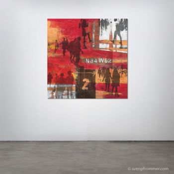 """Printmaking titled """"HUMAN CROWD XIII -…"""" by Sven Pfrommer, Original Art, Analog Print"""